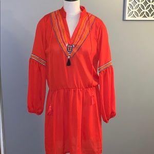 Red boho slip dress Misslook size XL